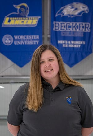 WORCESTER - Hockey coach Eliza Kelley is photographed at the Worcester Ice Center Tuesday, March 30, 2021.