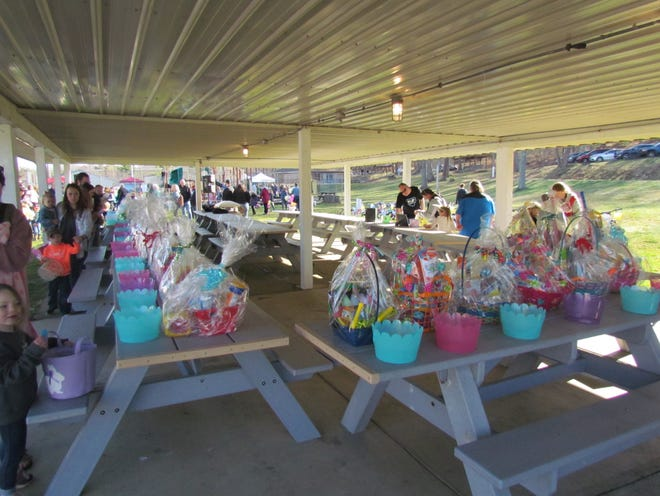 A crowd estimated at over 1,000 jammed into Cy Young Park for the Easter Experience held March 27.