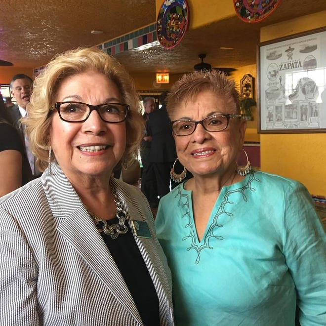 In a 2017 photo, La Casita Mexican Restaurant founder Carmen Rosales, right, with her best friend, former Victorville Mayor Gloria Garcia. Rosales died March 24 after a vehicle collision in Loma Linda.