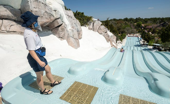 Disney's Blizzard Beach reopened March 7, 2021, at Walt Disney World Resort in Orlando The water park offers thrilling attractions and relaxation for all ages with unique spaces for every member of the family to enjoy.