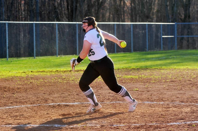 Madison's Bailey Lyons delivers a pitch against Bucyrus.