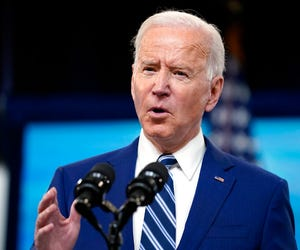President Joe Biden speaks during an event on COVID-19 vaccinations and the response to the pandemic, in the South Court Auditorium on the White House campus, Monday, March 29, 2021, in Washington.