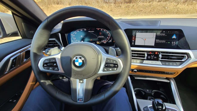 Everything at your fingertips. The 2021 BMW M440i surrounds the driver in buttons and visual displays to help keep your eye on the road.
