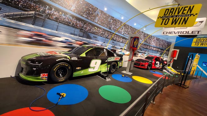 """More to come: the NASCAR tire-changing display will open to the public as COVID recedes. The Henry Ford's """"Driven to Win: Racing in America"""" exhibit."""