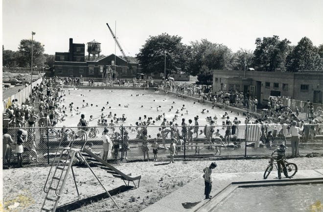 The Rodger Young Pool was a popular spot in the 1950s.