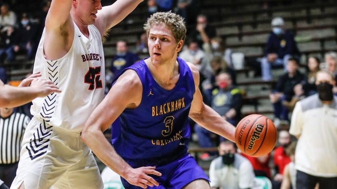 Caleb Furst leads Fort Wayne Blackhawk Christian into the Class 2A state finals.