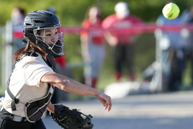 West Lafayette's Adeline Park throws to first during a scrimmage, Monday, March 29, 2021 in West Lafayette.