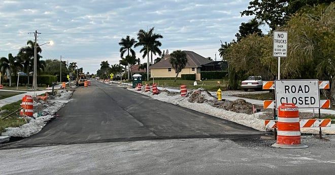 Work continues on Yellowbird Street, Marco Island.