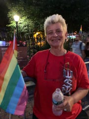 The Marines discharged Gina Pollut after just eight months in 1989 because of her LGBTQ identity. Exactly 30 years later, Pollut attended a Pride event sporting both rainbow and Marine gear.