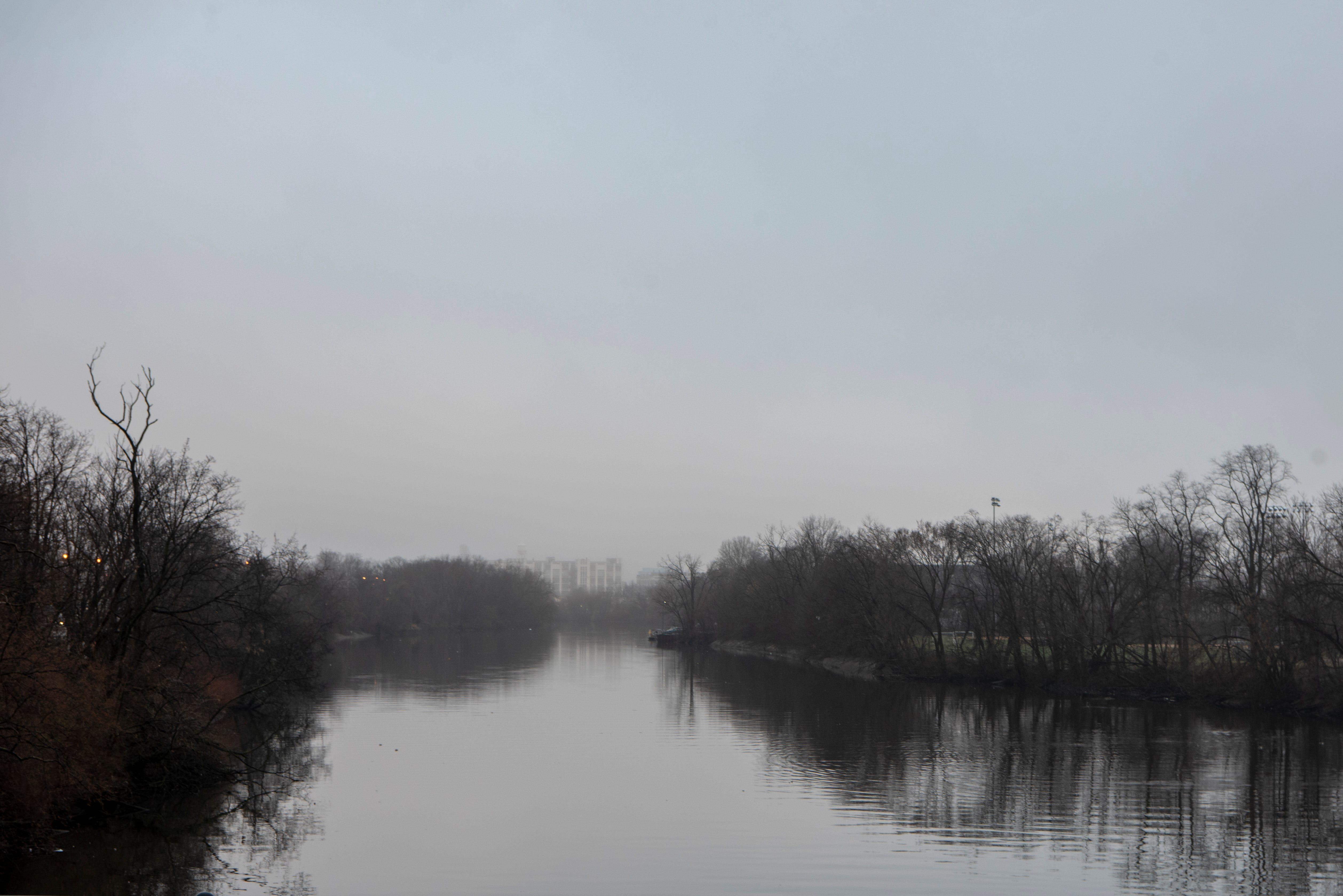 A foggy morning on the Passaic River on Thursday, March 25, 2021. The city of Passaic, previously named Village of Acquackanonk, was named after the river it bordered in 1854.