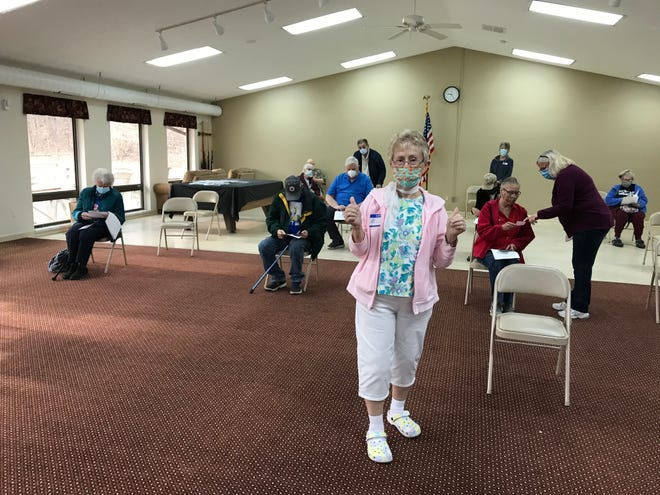 Alice Schmitter was one of 65 volunteers who made a 3-day vaccination event at Colonial Acres in South Lyon possible. 766 people were immunized against COVID-19 during the grassroots effort.