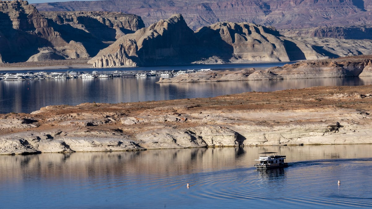 Lake Powell water levels hit a record low and continue to decline