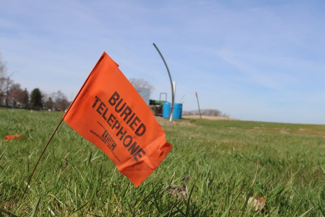 Long-awaited work near the Oak Street pump station along Perry Street  and the city beach in Port Clinton has finally begun and will continue as crews proceed with burying various utility lines going forward.