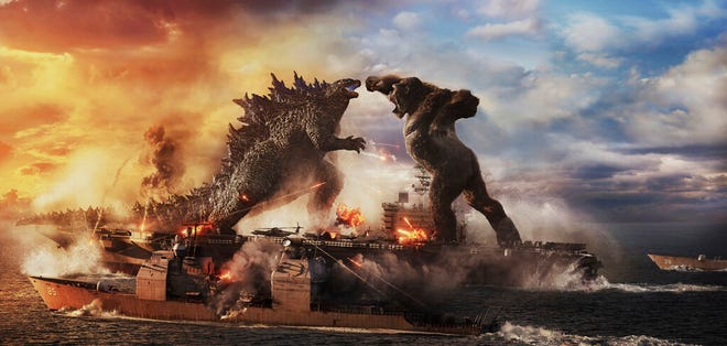 """Godzilla vs. Kong"" opens Wednesday at Queensgate Movies 13 and Hanover Movies 16."