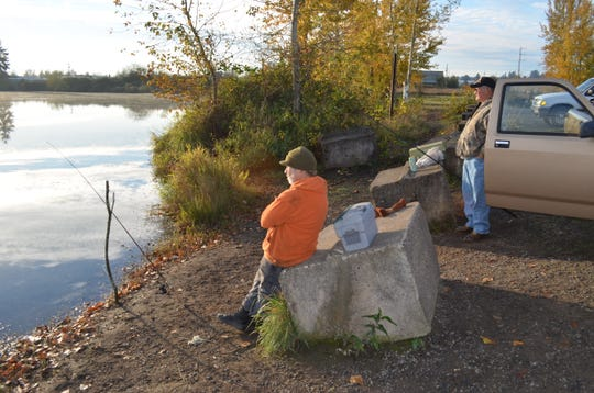 Try some drive-by fishing inside the Salem city limits at Walling Pond, which is scheduled to be stocked with trout again next week.