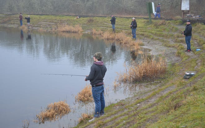 For a family friendly hike-and-fish adventure, give E.E. Wilson Pond a try. Rainbow trout are scheduled to be stocked the week of April 11.