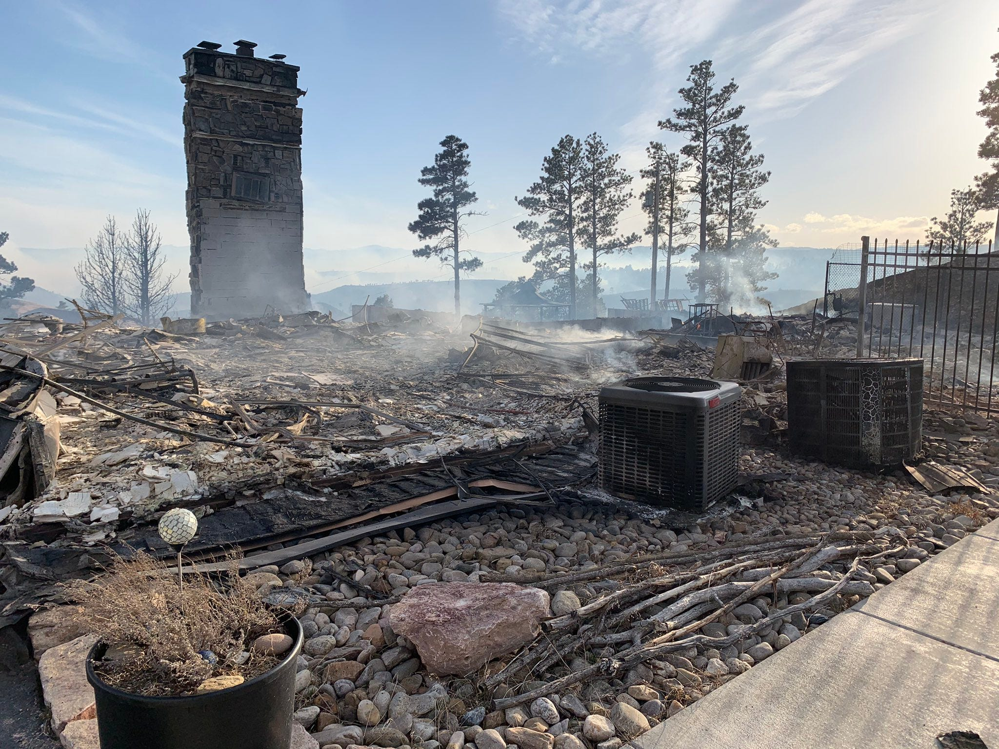 'Watched a neighbor's house go up in flames': High wind gusts fuel South Dakota fires; Mount Rushmore remains closed