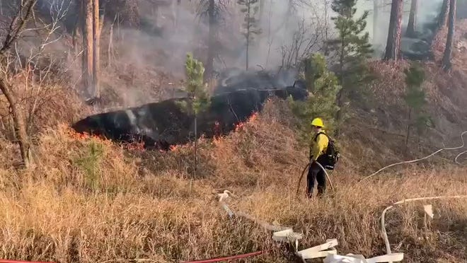 The Schroeder Fire started on Monday morning and quickly forced evacuations of neighborhoods. At least one home was destroyed.