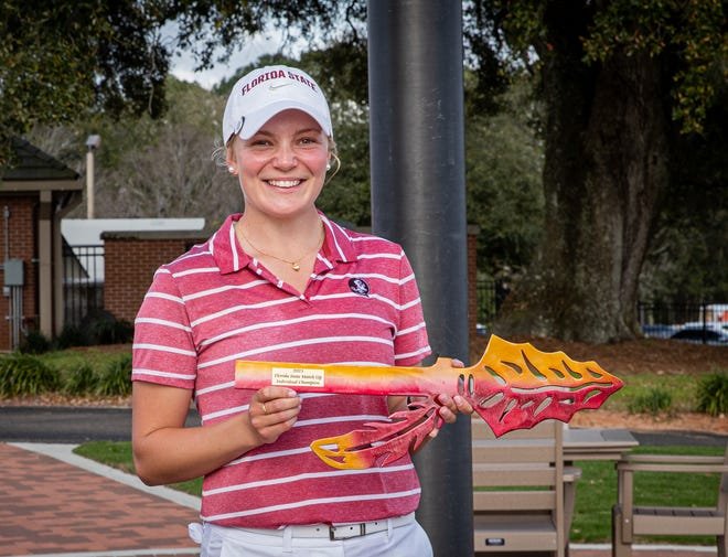Beatrice Wallin recently won the Florida State Match-Up with a career-best score of 12 under par 204 for her first career collegiate championship