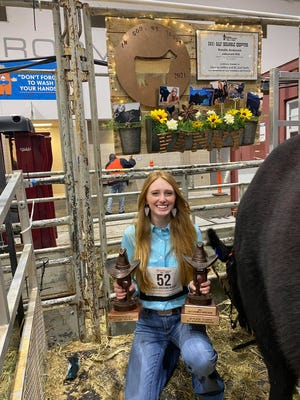 Burkburnett FFA member Natalie Anderson was awarded a $3,000 Fort Worth Stock Show and Rodeo Calf Scramble scholarship.