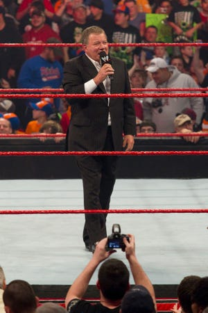 "New WWE Hall of Fame inductee William Shatner hosted ""WWE RAW"" in 2010."
