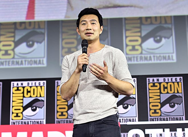 Simu Liu of Marvel Studios' 'Shang-Chi and the Legend of the Ten Rings' at the San Diego Comic-Con International 2019 Marvel Studios Panel in Hall H on July 20, 2019 in San Diego, California.