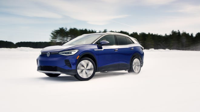 The Volkswagen ID.4 EV sport-utility vehicle is the German automaker's new electric car.