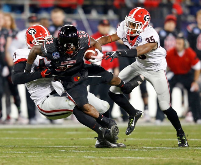 The only previous meeting between Georgia and Louisville came in the 2014 Belk Bowl, which the Bulldogs won 37-14. [FILE/ASSOCIATED PRESS]