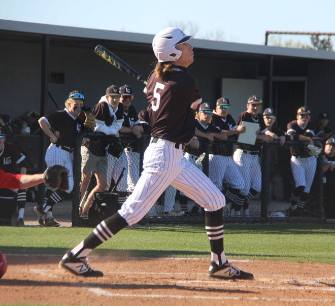 Lone Grove's Gavin Peery drove in two runs on Tuesday during an 8-1 win over Comanche.