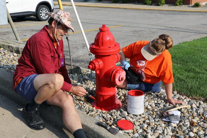 Painting fire hydrants is among the many projects volunteers will tackle during the second annual Make Ashland Sparkle cleanup and beautification effort on April 24.