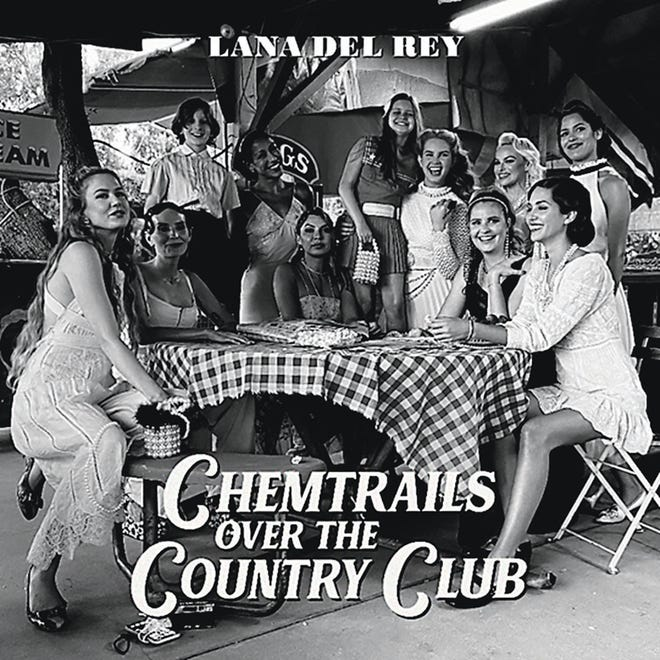 """This cover image released by Interscope Records and Polydor Records shows """"Chemtrails Over the Country Club"""" by Lana Del Rey."""