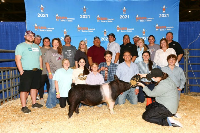 This photo from the Brownwood High School FFA program's spring season illustrates the successful year the program experienced.