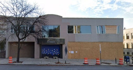 The front windows and a second-floor window at Franklin County Alcohol Drug and Mental Health office at 447 E. Broad St. at East 9th St., Downtown remained boarded up in this photo last November.