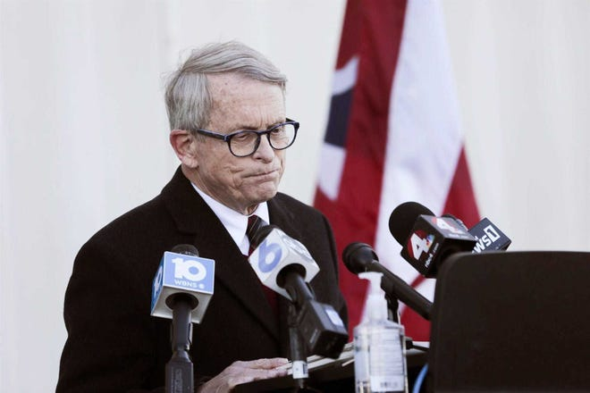 Ohio Gov. Mike DeWine fears another surge could be mounting as the state races to get COVID-19 vaccinations into arms.