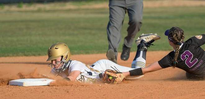 Fans hoping to see action like this – Eustis' Cassidy Ross (2) sliding into second – when the Panthers hosted Brooksville Hernando Tuesday at the Panther Den will have to wait a few more days. After lightning forced Tuesday's game game to postponed, officials rescheduled th matchup of the top-two ranked teams in Class 4A for Wednesday in Brooksville. [PAUL RYAN / CORRESPONDENT]