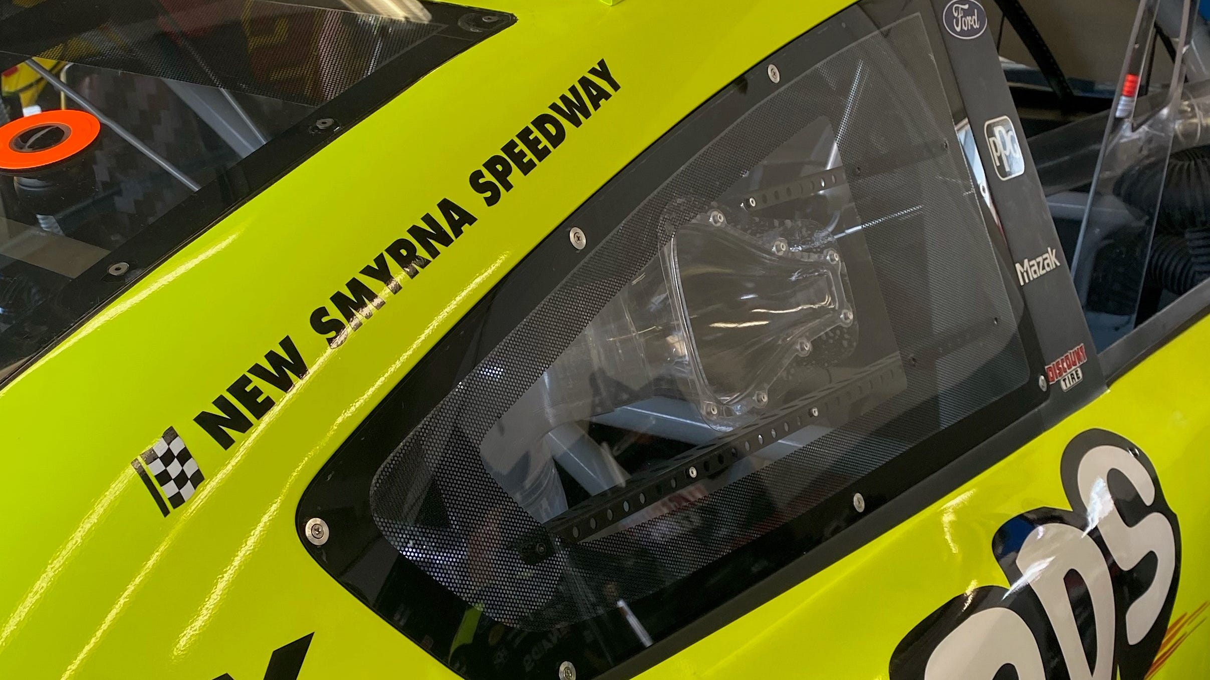 Ryan Blaney's No. 12 Ford featured New Smyrna Speedway on the side at February's Daytona Duel race.