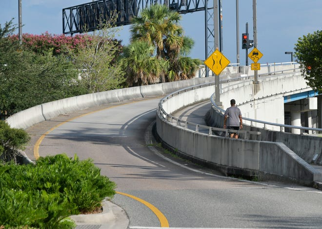 The on-ramp on the northwest side of the Main Street bridge is now scheduled for demolition.