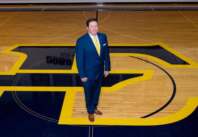 Jason Shay, a 1991 Galesburg High School grad, poses for a photo on May 7, 2020 after being named East Tennessee State University's men's basketball coach. Shay resigned from the post Tuesday.