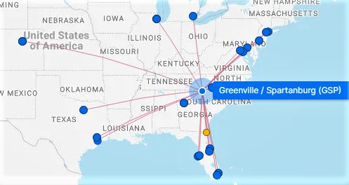 Greenville-Spartanburg International Airport is reporting a recent uptick in business after a year of decline due to the COVID-19 pandemic.