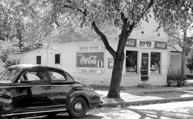 Walden Grocery & Market, shown here in 1950, opened in 1928 at 205 W. 16th Ave.
