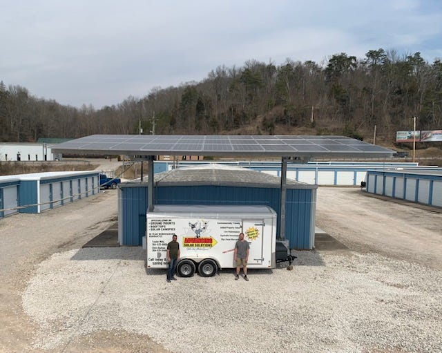 A 12.7kW solar canopy by Advancing Solar Solutions out of Ripley.