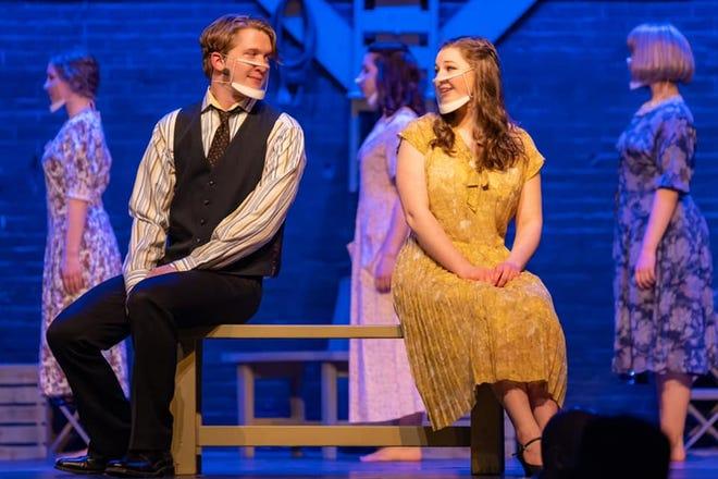 "Junior Stephen Patchett and senior Katie Taberski star in the Irondequoit High School production of ""Bright Star."""