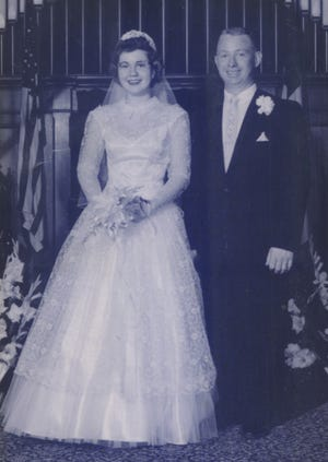 The Barretts on their wedding day.
