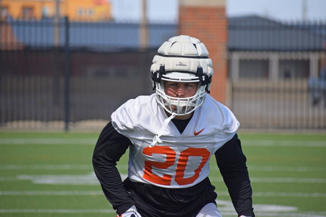 Oklahoma State linebacker Malcolm Rodriguez is one of several veterans on the Cowboy defense. [Bruce Waterfield/OSU Athletics]