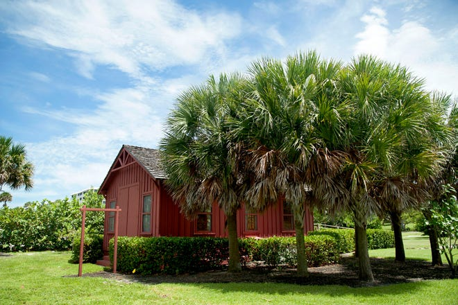 """The Little Red Schoolhouse at Phipps Ocean Park is home to The Preservation Foundation of Palm Beach's """"living history"""" program. It is among the more than 1,700 historic structures that were recorded last year as part of a historic site survey commissioned by the town."""
