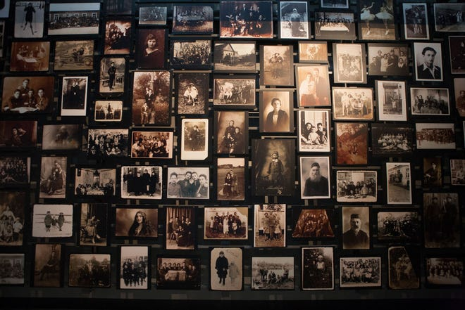The Tower of Faces, a permanent exhibit at the U.S. Holocaust Memorial Museum in Washington, D.C.