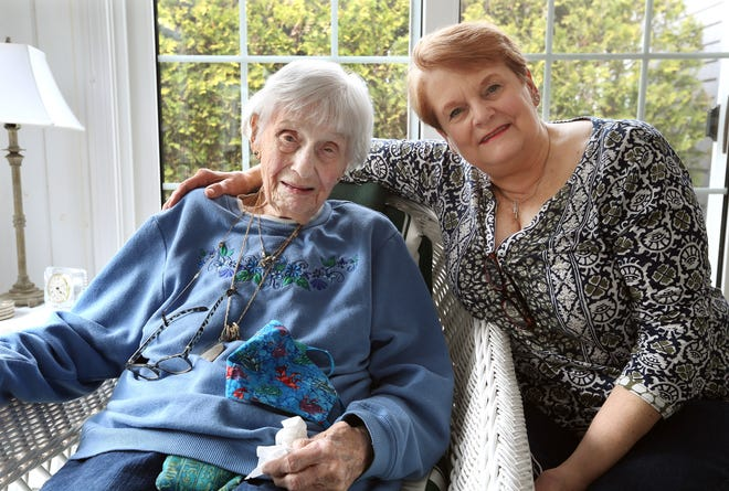 Barbara Anderson, 91, looks forward to spending the Easter holiday with her daughter Lynne Ramos and her family in Cumberland.