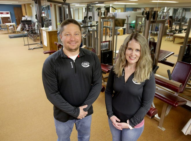 Jason McDonald and Angela Marmet are opening Onsite Therapy Solutions on Monday in the basement level of the Tri County Orthopedic Surgeon building in Perry Township. The business will be a sister location to Onsite's existing rehab center in Orrville.