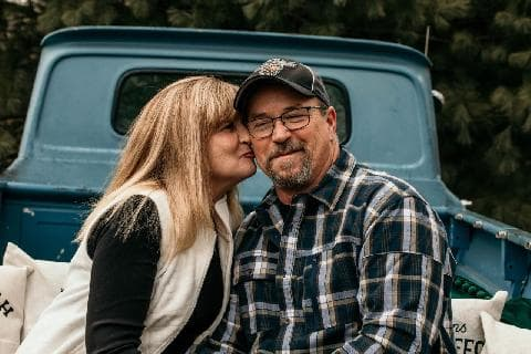 Robin O'Neill and her husband, Shawn. The Waynesburg couple has a long recovery ahead following a hit-skip crash in Coshocton County.