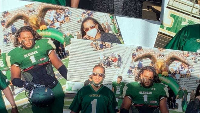 Almost $25,000 has been raised in support of GlenOak football player Christian Lopes, who lost both of his parents within a month. (Photo courtesy of Derek and Tara Fox)